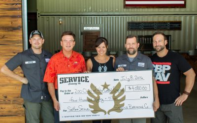 Service Brewing, Co. Donates