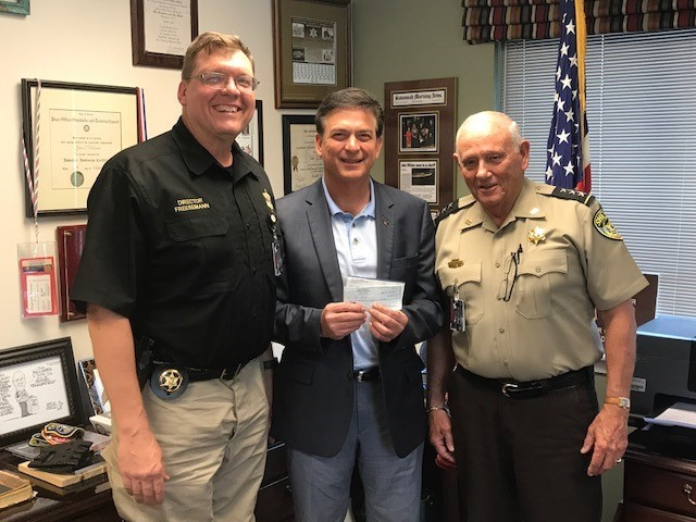 Chatham County Sheriff Office Gives Again to Red White & Blue Baseball